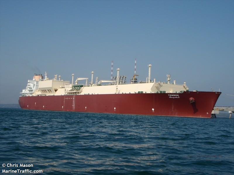 Vessel details for: TEMBEK (LNG Tanker) - IMO 9337731, MMSI