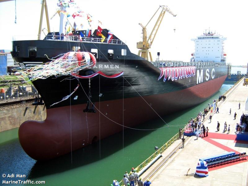 Vessel Details For Msc Carmen Container Ship Imo 9349813