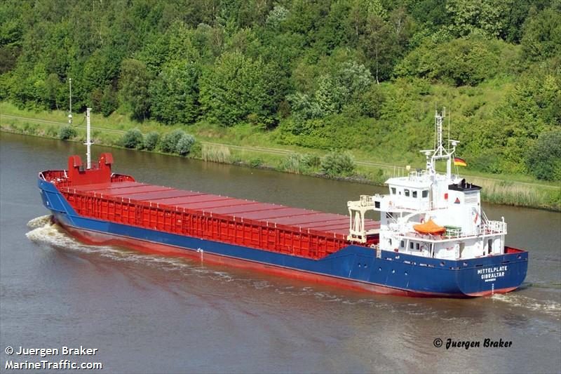 Vessel details for: MITTELPLATE (General Cargo) - IMO