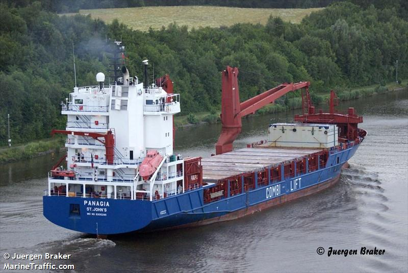 Vessel details for: PANAGIA (General Cargo) - IMO 9305295, MMSI 304610000, Call Sign V2OQ5 ...