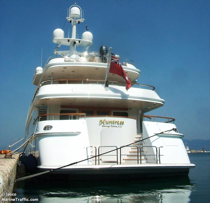 Vessel details for: HUNTRESS (Yacht) - IMO 1005643, MMSI ...