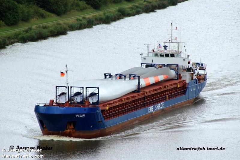 Vessel details for: RYSUM (General Cargo) - IMO 9015424, MMSI 304010168, Call Sign V2JO ...