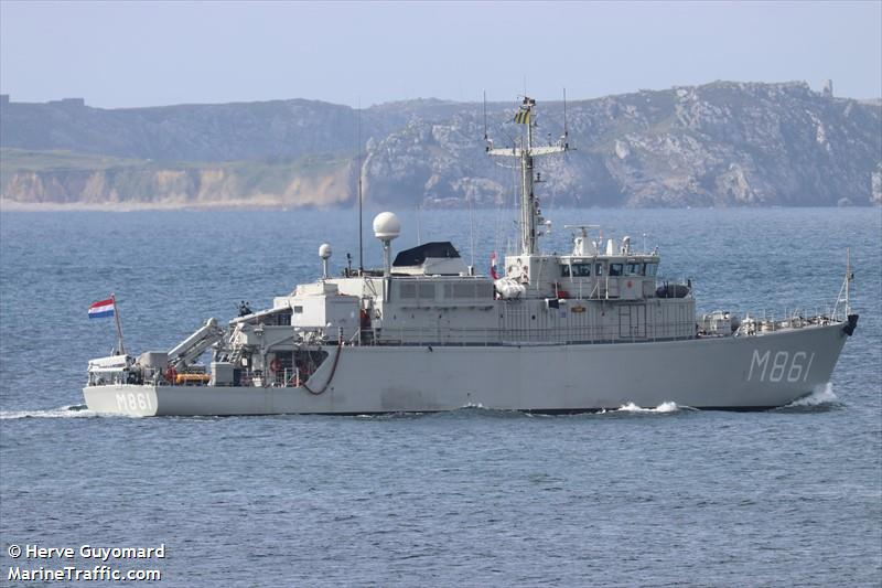 HNLMS URK (Military Ops) Registered in Netherlands - Vessel details,  Current position and Voyage information - MMSI 244472000, Call Sign PAEL    AIS Marine Traffic